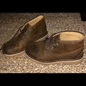 Boys CLARK chocolate colored oxfords